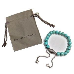 David Yurman Beautiful Turquoise Bead Bracelet 925